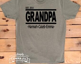 Grandpa shirt, gift idea, Grandpa  est., Father's Day gift, Dad t-shirt, man gift
