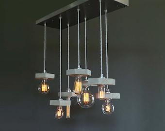 "Vintage pendant lamp ""7lights/favo"" incl. Bulbs"