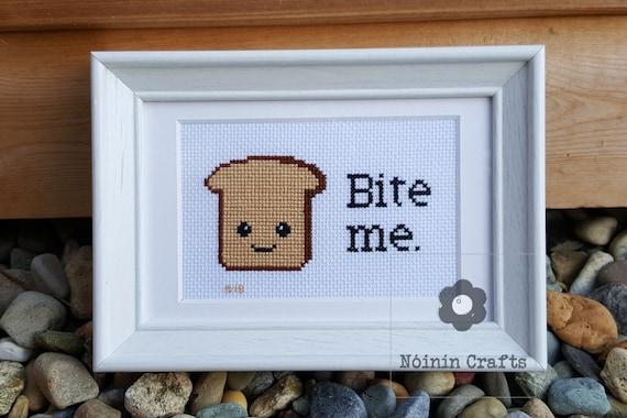 Bite Me Cross Stitch