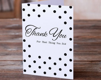 Thank You Card | Funny Thank You | Funny Thanks Card | Give Thanks | Humor Card | Friendship Card | Obligatory Thank You Card