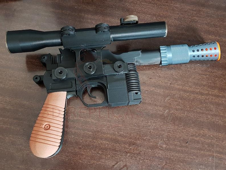16. Han Solo Blaster DL-44 Pistol Prop Replica Star Wars Cosplay Gun