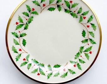 lenox holiday salad plate christmas holiday fine china lenox christmas holly salad plate
