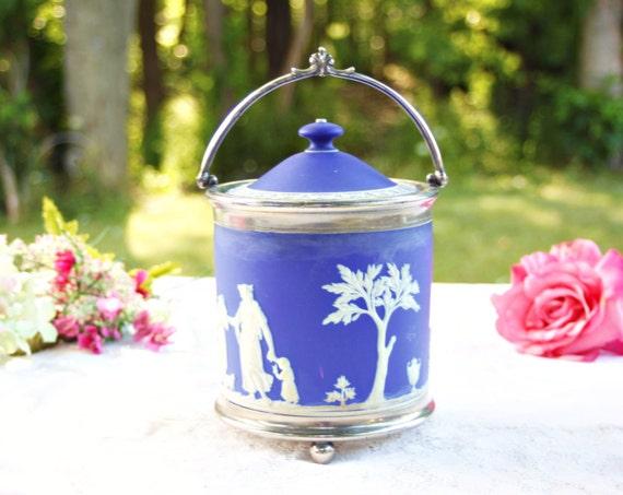 Wedgwood Jasperware Biscuit Jar Wedgwood Biscuit Jar Antique Etsy