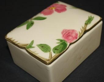 Franciscan Desert Rose Cigarette Lidded Box ,  Franciscan  USA Production,  FREE SHIPPING