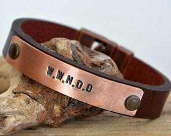 FAST SHIPPING, Mens Bracelet, Men's Custom Bracelet, Men's Leather, Hidden Message Bracelet, Men's Personalized Gift, Mens Custom Bracelet