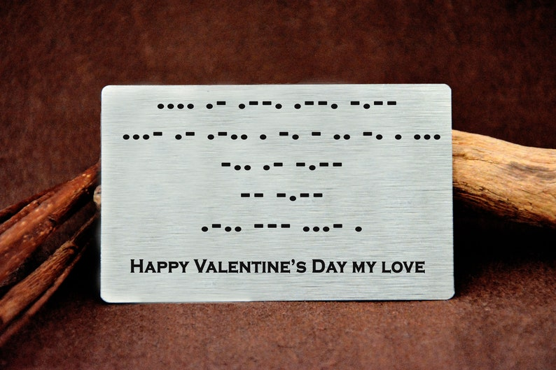Sound wave Metal Gift Card  Your Actual Hand Writing for Love Christmas Love Message Card Anniversary Metal Boyfriend Gift Custom Men Gift