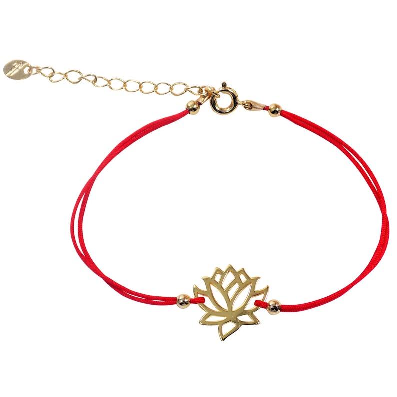 Lotus Flower Bracelet Lotus Charm Buddhist Symbol Gift For Etsy