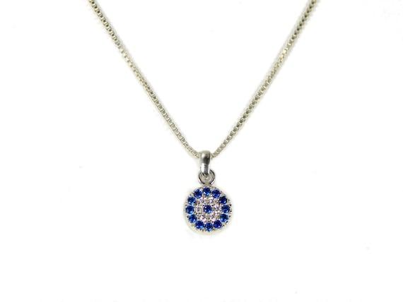 20 Martinuzzi Accessories Evil Eye Pendant Necklace 925 Sterling Silver Blue Turkish Eye Choose Length 16 18