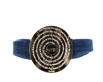 Our Father Prayer Bracelet Lord's Prayer Elastic Band Adjustable Fashion Christian Jewelry. New Colors Available!