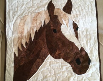 Rustic Horse Quilted Hanging