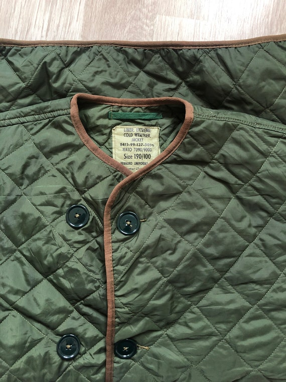 British Army Quilted Liner Jacket NATO