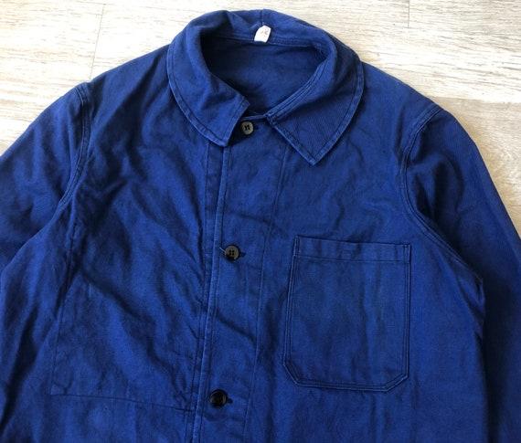 "Pit21.5"" - Vintage French Work Chore Jacket Round"