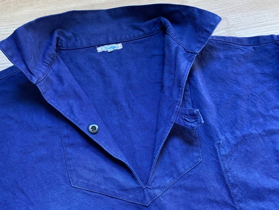 "Pit27"" Vintage 50-60s FRENCH INDIGO Fisherman Pull"