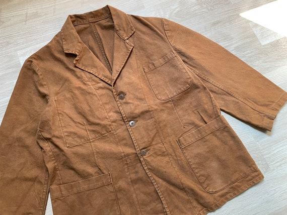 Vintage 60s 'LE BON PICARD' French Brown Cotton Wo