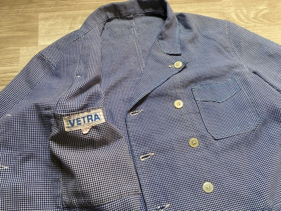 """Pit22.5"""" French VETRA Double Breasted Houndstooth"""