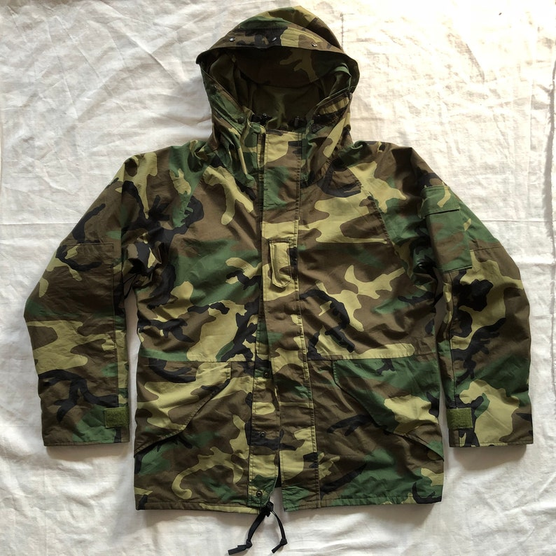 2f6208be683 U.S.Military Woodland Camo ECWCS Parka Cold Weather Jacket