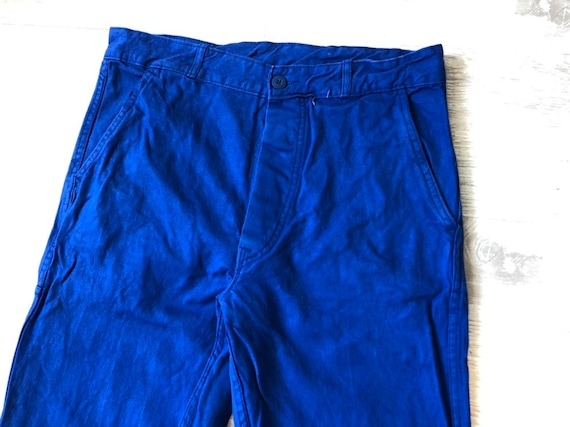 "w33"" – French Blue Cotton Work Pants Sanfor Vintag"
