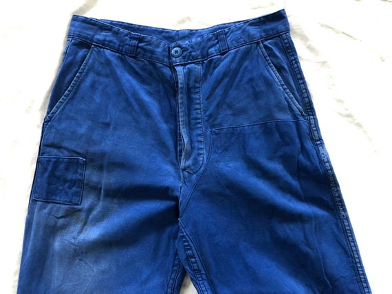 "w32""–FRENCH 'Le Mont Carmel' Blue Cotton Work Pant"