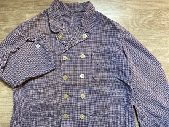 SizeM-L _ 50-60s French Double Breasted Houndstoot