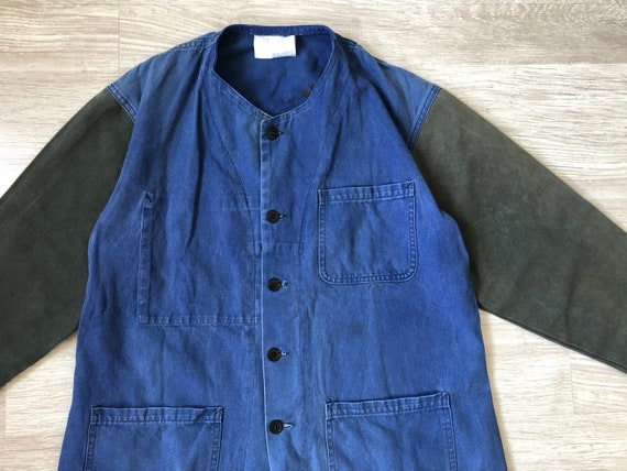 REMADE Vintage French Collarless Work Jacket 1960s