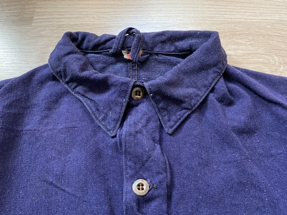 1940s German Indigo Denim Work Jacket LBR Hose Vin