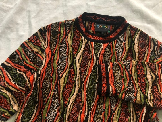 COOGI Women 3D Knitted Sweater Vintage 90s RARE
