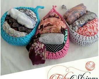 STANDARD Handmade Crochet Hanging Basket   Crochet Hanging Pod