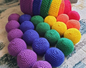 Rainbow Nested Baskets | Educational Crochet | Baskets and Balls | Numbers and Colours | Learning and School