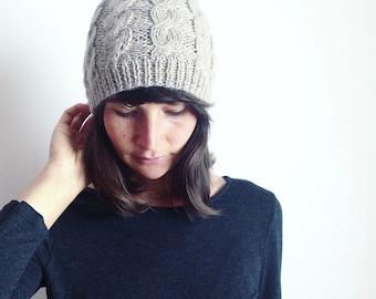 Cappello Alpaca, Cappello a trecce lavorato a maglia, Regali per Lei, Cappello da donna, Cappello Invernale 100% Baby Alpaca