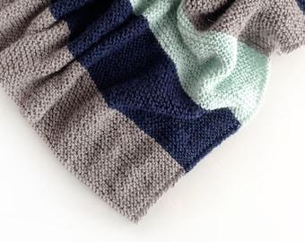 Copertina Neonato, Copertina lavorata a maglia, Regalo Battesimo, Regalo Nascita, Coperta fatta a mano 100% Baby Alpaca
