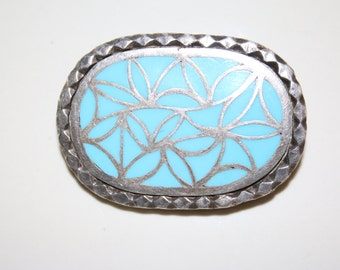 """OLD Zuni Dishta Style Inlay Turquoise 925 Sterling Rope Large Pony Tail Holder 28 grams & over 2"""""""