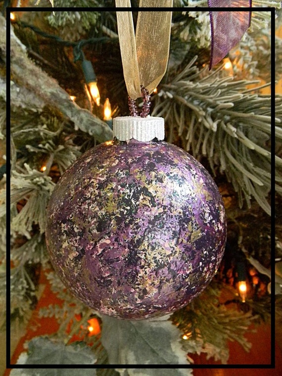 Hand Painted Glass Christmas Ornaments Glitter Ornaments Etsy