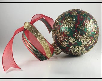 Unique Christmas Ornaments, Christmas Ornaments Handmade, Gifts For Hostess Gifts, Client Holiday Gifts, Glass Christmas Ornaments, Glitter