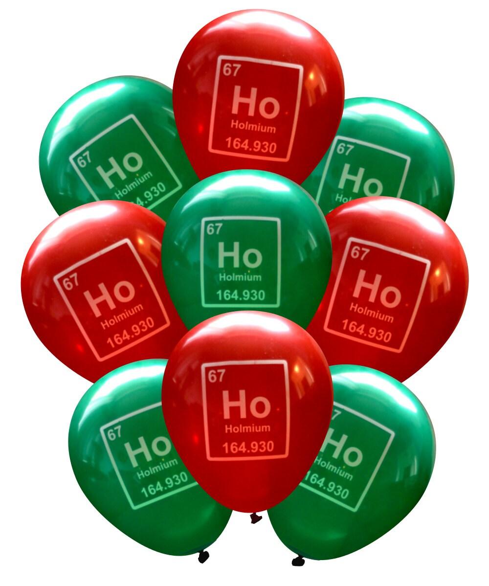 Periodic Table Ho Ho Ho Science Balloons Pack of 9 Nerdy | Etsy