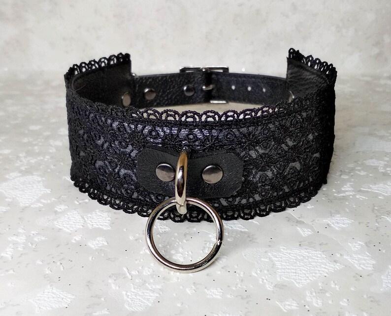 submissive collar Black Red bdsm collar mature Collar BDSM bondage collar O ring choker