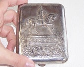 Vintage Cigarette Case. Nickel Plated Steel Cigarette Box. Soviet Cigarette Holder. Retro Business Credit Card Holder. Metal Wallet.