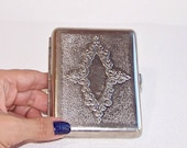 Vintage Cigarette Case. Nickel Plated Cigarette Box. Soviet Cigarette Holder. Retro Business Credit Card Holder. Metal Wallet.