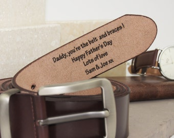 Personalised Men's Leather Belt- leather belt - black leather belt for him- brown leather belt for him- leather him gift -anniversary gifts