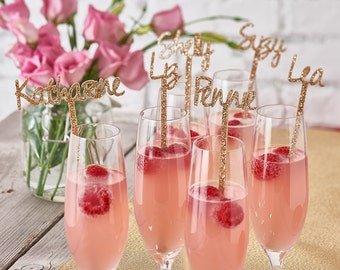 Personalised Swizzle Sticks-drink stirrer-hen party decorations-wedding drink stirrers-engagement party decorations -birthday decorations
