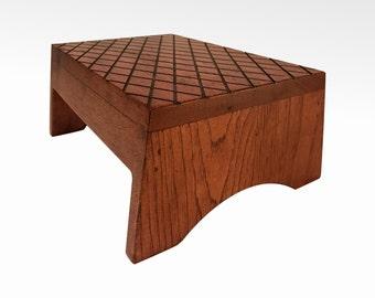 Wood Step Stool, Footstool By CW Furniture, Custom, Choose Finish, Wooden  Bed Kitchen Bathroom Kids Toddler Grandma Grandpa Gift Adult Solid