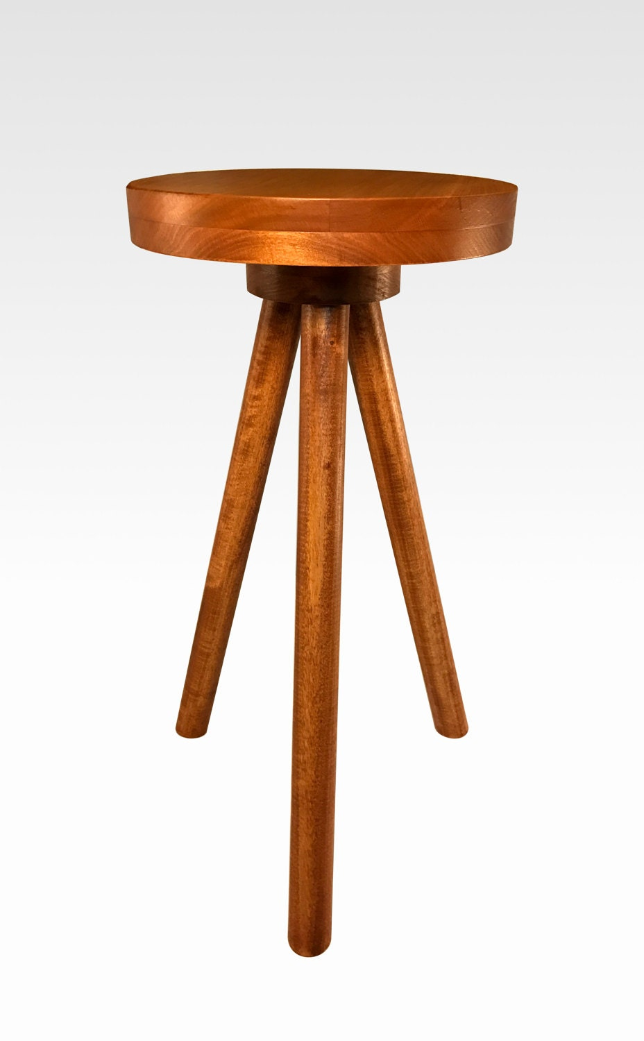 Modern Side Table In Cherry By Candlewood Furniture End Table Bar Stool Bedside Table Nightstand Wood Wooden Three Legged Table