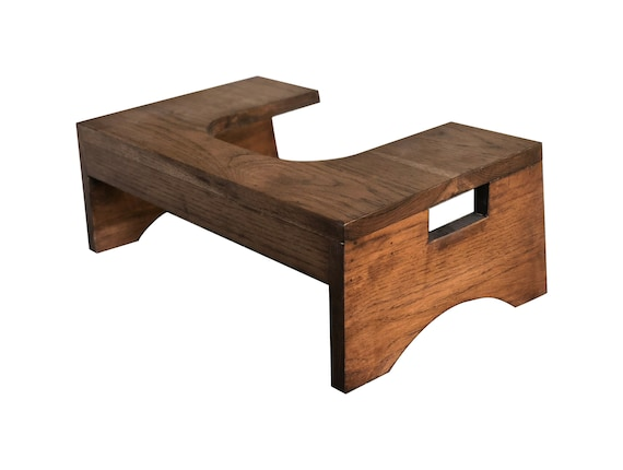 Toilet Stool Bathroom Stool by CW Furniture Custom Wood Step | Etsy