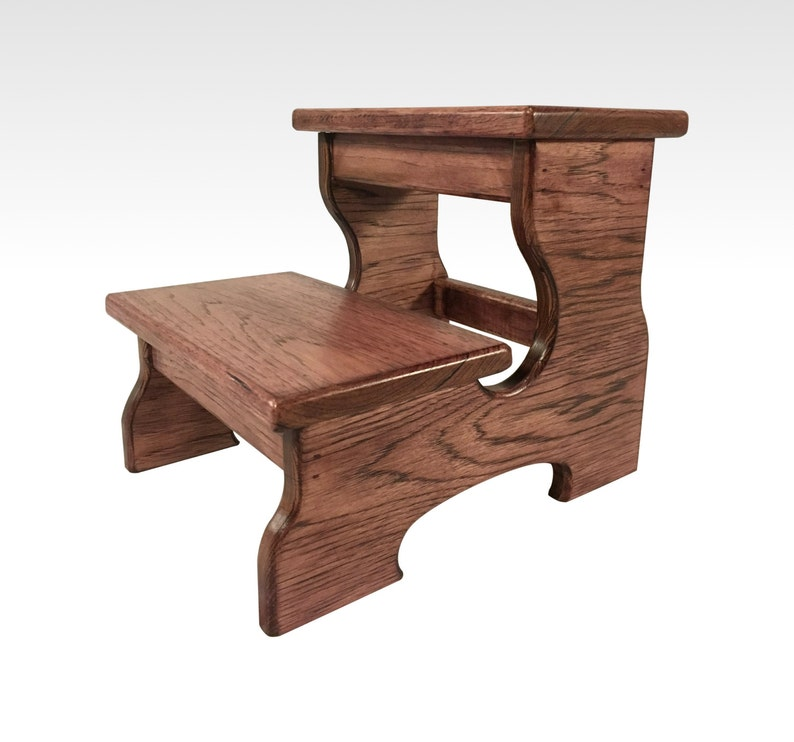 Astounding Two Step Stool Wood Footstool In Black Cherry By Cw Furniture Double Step Hardwood Wooden Kids Grandparents Gift Bed Bathroom Kitchen Alphanode Cool Chair Designs And Ideas Alphanodeonline