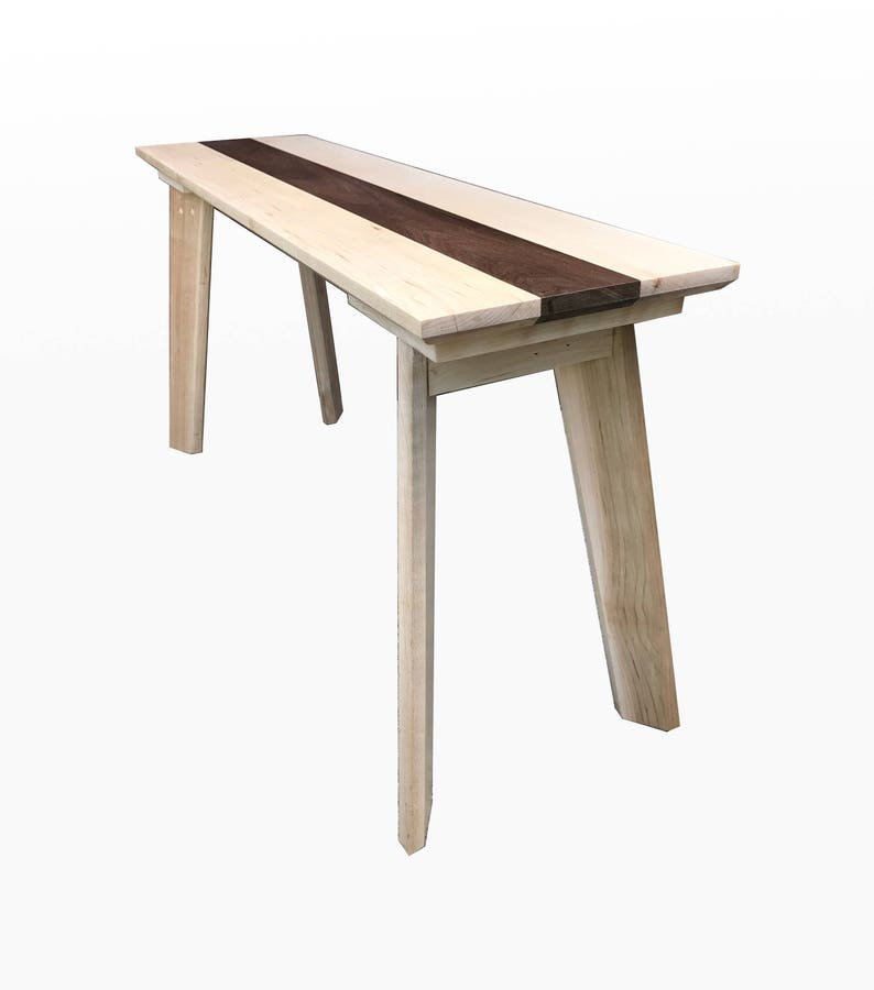 Groovy Wood Bench Maple And Walnut By Cw Furniture Wooden Entryway Furniture Dining Table Bench Chair Handmade Hallway Rustic Modern Ibusinesslaw Wood Chair Design Ideas Ibusinesslaworg