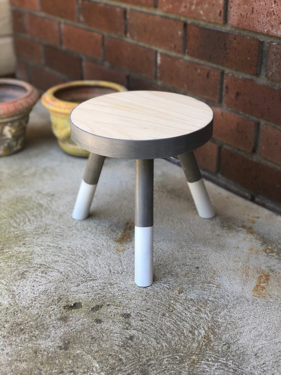 Strange Small Wood Three Legged Stool Modern Plant Stand In Ash White By Candlewood Furniture Wooden Tea Table Kids Chair Decorative Ocoug Best Dining Table And Chair Ideas Images Ocougorg