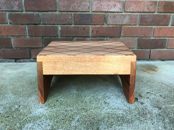 Fabulous Wood Step Stool Extra Large By Cw Furniture Custom Choose Finish Bed Kitchen Bathroom Personalized Engraved Solid Hardwood Foot Stool Wooden Machost Co Dining Chair Design Ideas Machostcouk