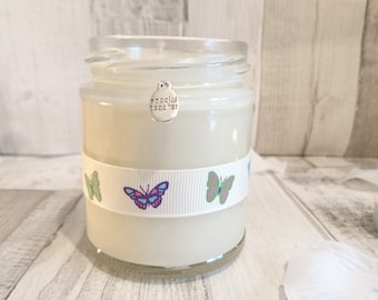 Special Teacher butterfly ribbon scented candle gift