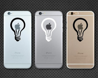 Apple Lightbulb iPhone decal - iPhone sticker