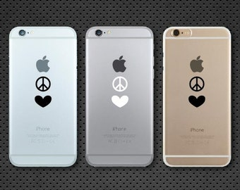 Peace and Love iPhone decal - iPhone sticker