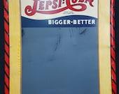 Vintage Large 1940 39 s Drink Pepsi Cola Double Dot Bigger Better Chalkboard Metal Sign